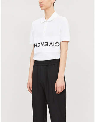Givenchy Upside-down logo cotton polo shirt