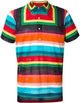 Paul Smith geometric striped polo shirt - men - Cotton/Polyamide - XS