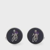 Paul Smith Men's Navy Silk Cyclist Cufflinks