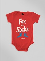 Junk Food Clothing Baby Fox In Socks Onesie-red-12m