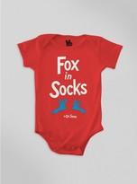 Junk Food Clothing Baby Fox In Socks Onesie-red-24m