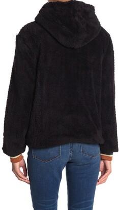 PJ Salvage Ciao Fleece Jacket With Faux Fur Hood