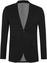 Oxford Auden Wool Suit Jacket Blk X