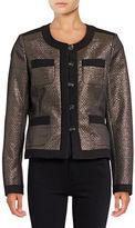 Karl Lagerfeld Paris Jacqaurd Buttoned Down Jacket