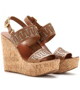 Tory Burch REGAN CORK PLATFORM WEDGES