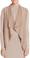 T Tahari Milly Perforated Faux Suede Front Cardigan