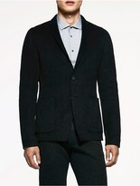 Calvin Klein Platinum Wool Cashmere Tailored Blazer