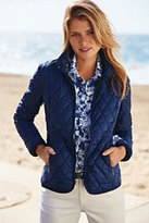 Lands' End Women's Travel Primaloft Jacket-Wild Berry Floral