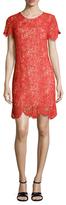 Shoshanna Lace Scalloped Shift Dress