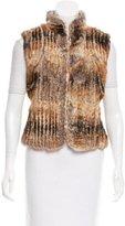 Elie Tahari Knit-Lined Fur Vest