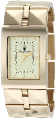Burgmeister Venus Bm501-479 Ladies Analogue Quartz Wristwatch Gold Plated