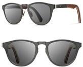 Shwood Men's 'Francis' 49Mm Titanium & Wood Sunglasses - Black/ Walnut