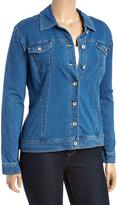 Live A Little Vintage Wash Denim Jacket - Plus