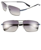 BOSS Men's 59Mm Polarized Navigator Sunglasses - Dark Ruthenium