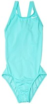 Nike Solid Fast Back One-Piece (Little Kids/Big Kids) (Black) Girl's Swimsuits One Piece