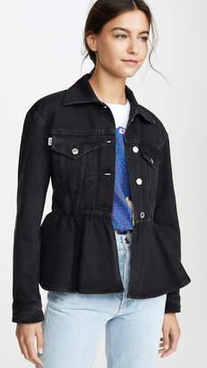 MSGM Denim Peplum Jacket