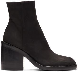 Ann Demeulemeester SSENSE Exclusive Black Nubuck Boots