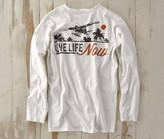 Madda Fella Long Sleeve Excursions - Live Life Print Sail White