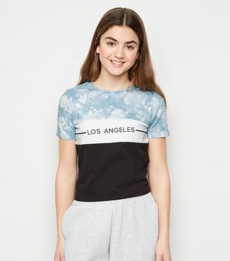 New Look Girls Tie Dye LA Slogan T-Shirt