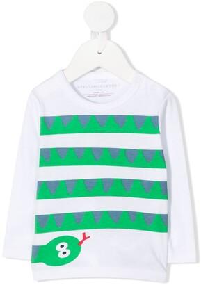 Stella McCartney Kids snake print poplin T-shirt