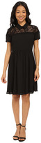 KUT from the Kloth Peter Pan Collar Shirred Dress