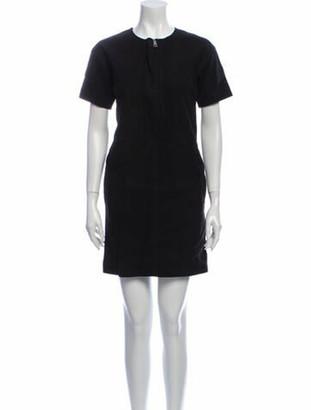 Burberry Lamb Leather Mini Dress Black