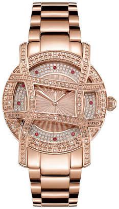 JBW 10 Yr Anniversary Olympia 1/5 C.T. T.W. Genuine Diamond Womens Diamond Accent Rose Goldtone Bracelet Watch-Jb-6214-10a