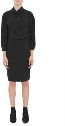 Boutique Moschino Gathered Collar Blouse