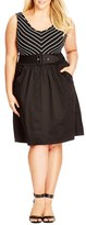 City Chic Plus Size Women's 'Ahoy' Dress