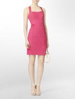 Calvin Klein Cross Back Pleated Detail Dress