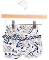 MonnaLisa Girls' Ruffle-Accented Printed Shorts w/ Tags