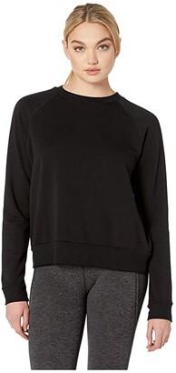 Beyond Yoga Favorite Raglan Crew Pullover (Black) Women's Clothing