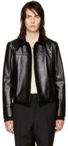 Saint Laurent Black Lambskin Blouson Jacket