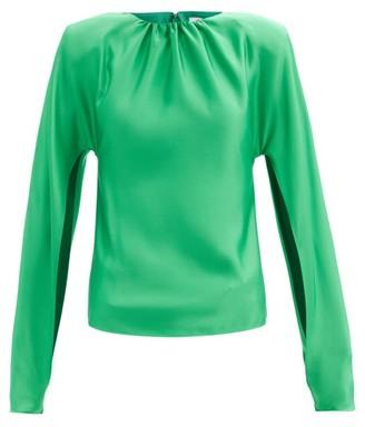 ATTICO Split-sleeve Satin Blouse - Emerald
