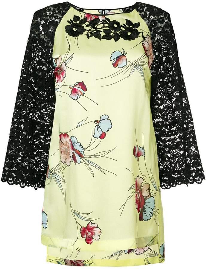 Antonio Marras floral lace blouse