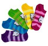 Hello Kitty Striped Women's No-Show Socks 5-Pack - Girls/Women 9