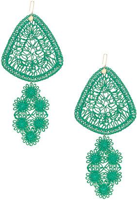 Stella McCartney Intricate Earrings in Bright Green   FWRD