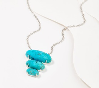 Generation Gems Sterling Silver 3-Stone Gemstone Necklace