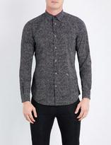 Diesel S-dino slim-fit star-print stretch-cotton shirt