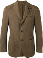 Lardini notched lapel patterned blazer - men - Cotton/Polyester/Spandex/Elastane - 52