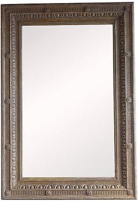 One Kings Lane Vintage Italian Classical Style Painted Mirror - green/aqua