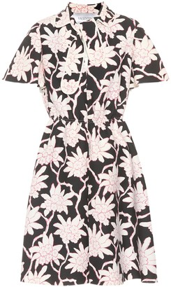 Valentino floral-printed crepe dress
