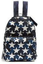 Valentino Camustars Nylon And Leather Backpack