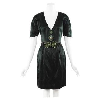 Prada \N Green Silk Dresses