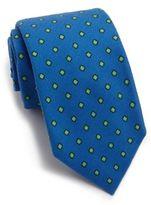 Isaia Printed Cotton Tie