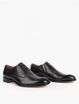 Maison Margiela Black Leather Slip-On Derby Shoes