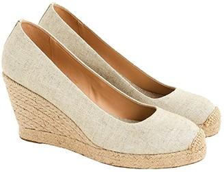 J.Crew Seville Wedge Espadrille (Metallic Gold) Women's Shoes