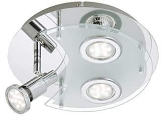 Briloner Leuchten LED Ceiling Light 3 x 3 W/250 Lumen/Chrome 2228–038