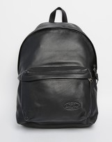 Eastpak Padded Pak'R Backpack In Leather