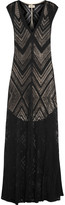 L'Agence Tatiana burnout ribbed jersey maxi dress